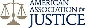 Logo Recognizing Hofmann & Schweitzer's affiliation with the American Association for Justice